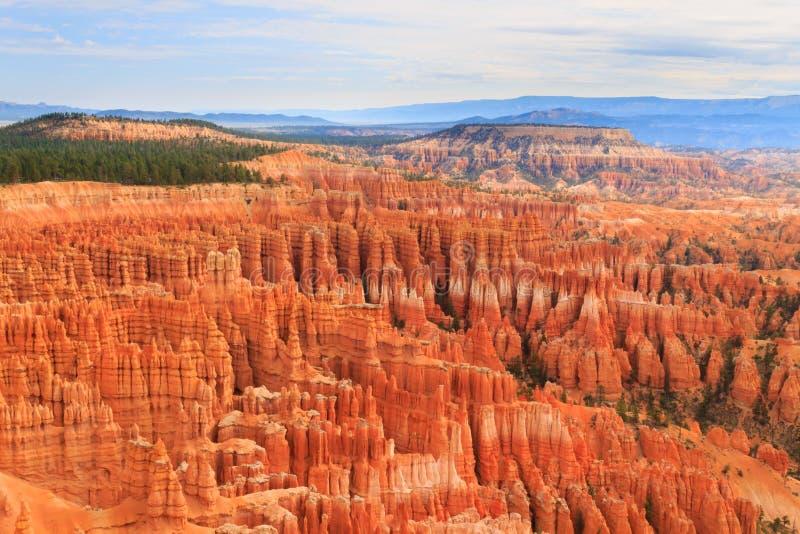 从布莱斯峡谷国家公园,美国的全景 图库摄影