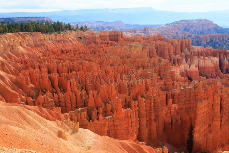 从布莱斯峡谷国家公园,美国的全景 免版税库存图片