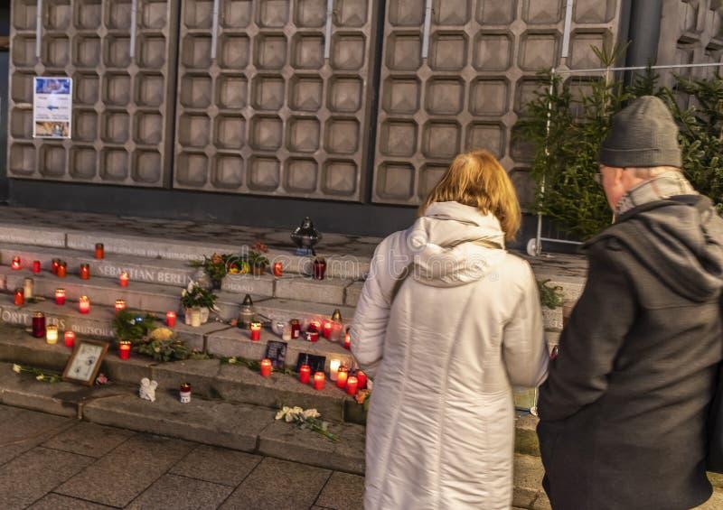 布赖特施德广场恐怖袭击纪念品 库存图片