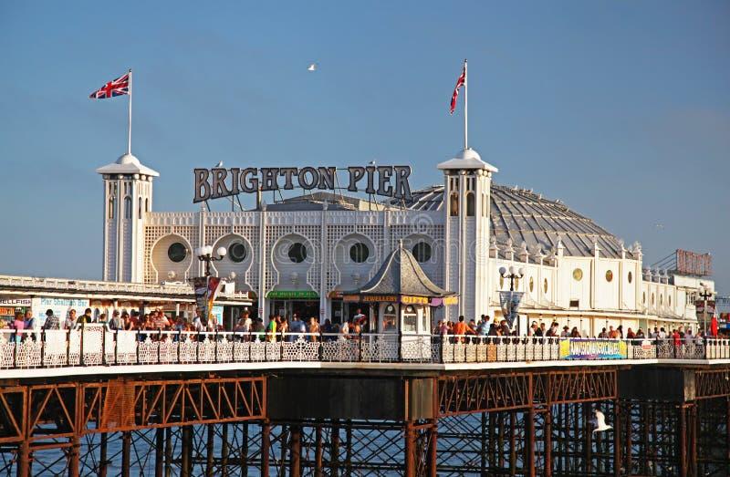 布赖顿码头在夏天 免版税库存照片
