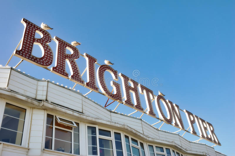布赖顿码头符号 图库摄影