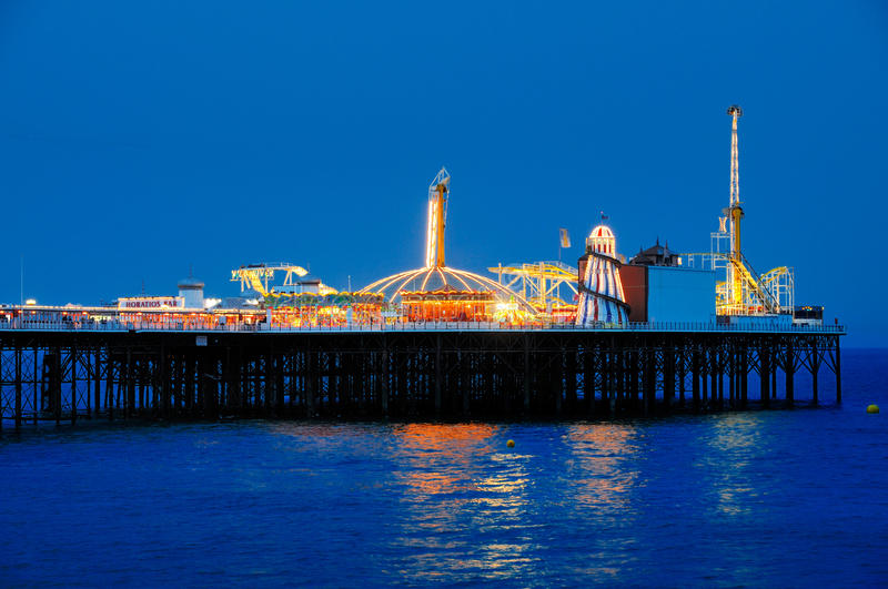布赖顿码头,英国 免版税图库摄影