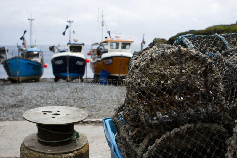 布赖顿虾笼 库存照片