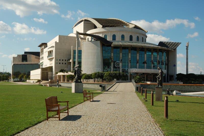 布达佩斯国家戏院 免版税库存照片