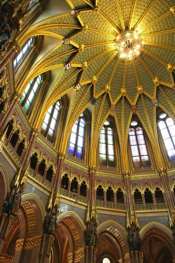 布达佩斯圆顶议会 库存图片