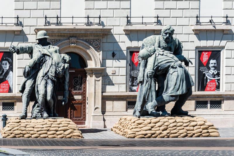 布达佩斯城堡义卖市场和皇家庭院 库存图片