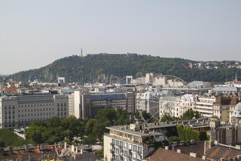 布达佩斯壮观的看法所有它的荣耀的从 免版税库存照片