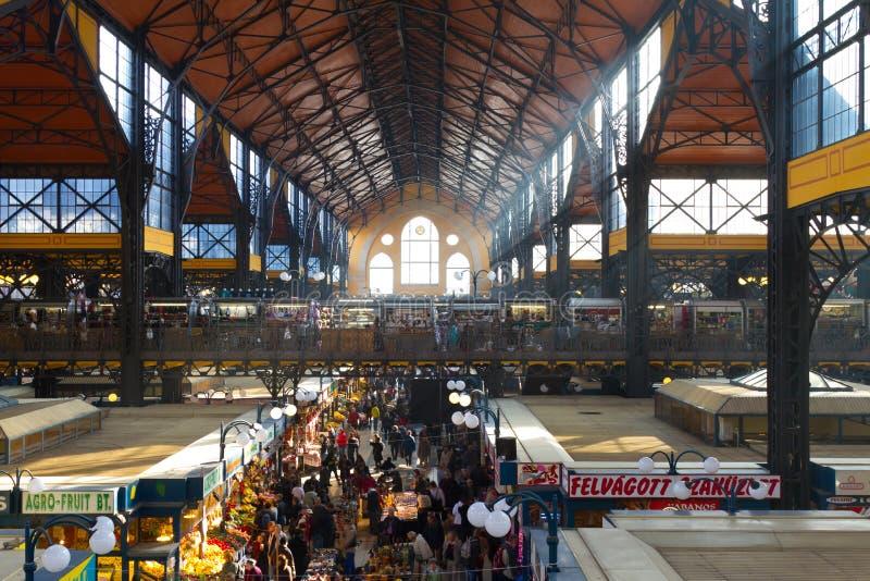 布达佩斯大厅匈牙利市场 免版税库存图片