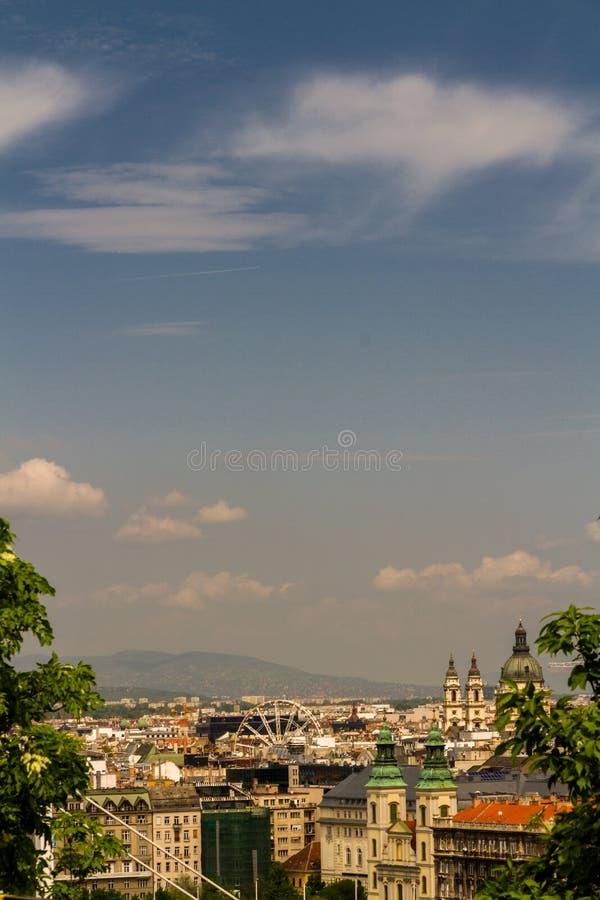 布达佩斯屋顶视图  免版税库存照片