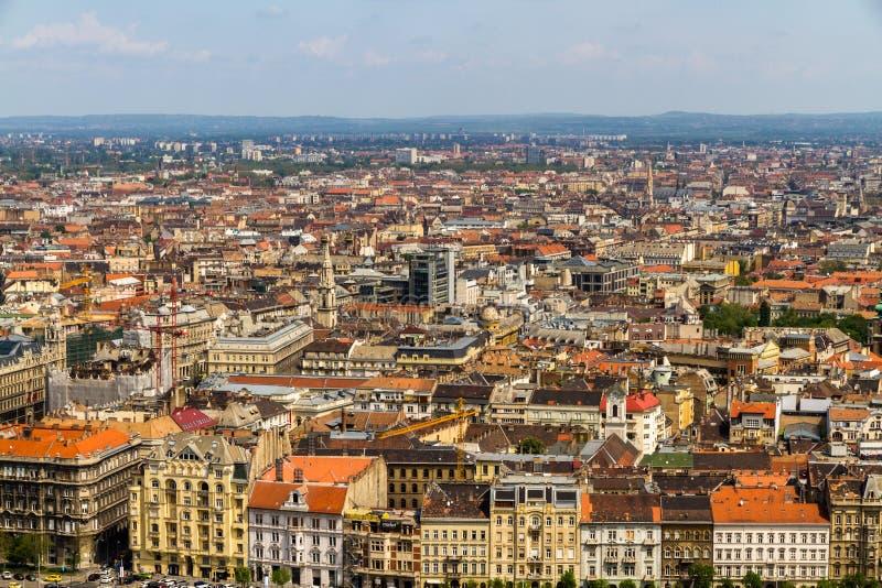布达佩斯屋顶视图  免版税图库摄影