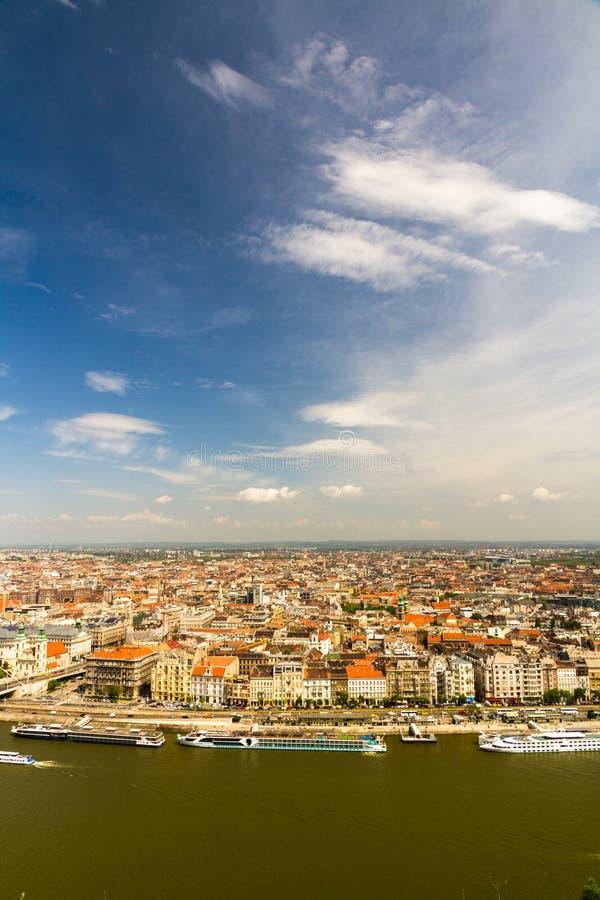 布达佩斯屋顶视图  免版税库存图片