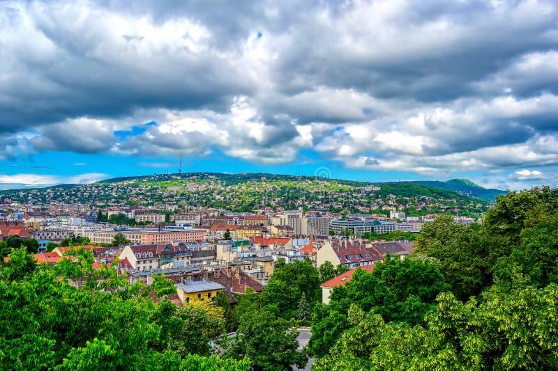 布达佩斯山 库存照片