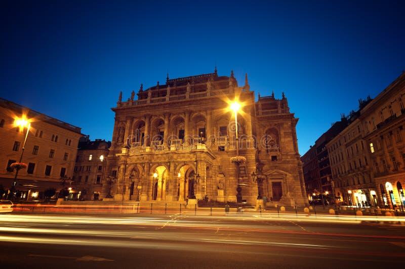 布达佩斯房子歌剧 免版税库存照片