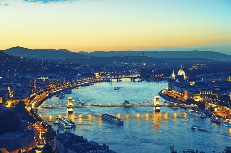 布达佩斯晚上 图库摄影