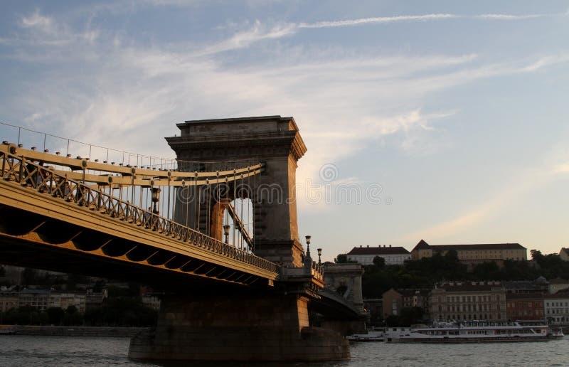 布达佩斯桥梁 免版税库存照片