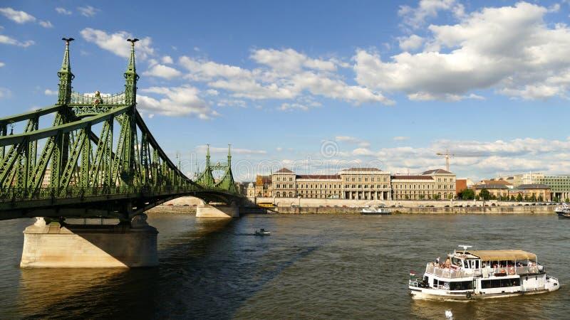 布达佩斯河视图 图库摄影