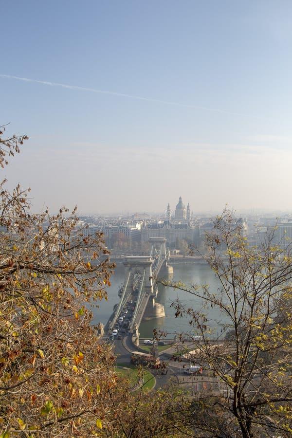布达佩斯游人 免版税库存图片