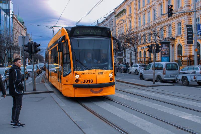 布达佩斯电车 免版税库存照片