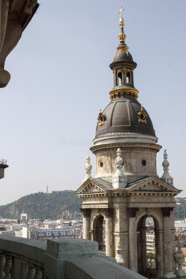 布达佩斯的壮观的看法所有它的荣耀的从 库存照片