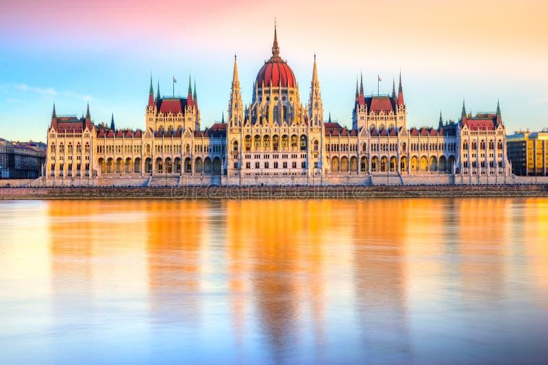 布达佩斯议会,布达佩斯,匈牙利 免版税图库摄影