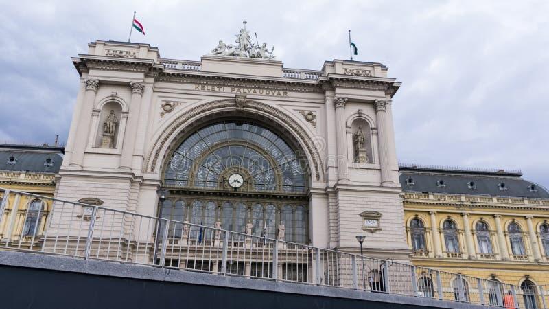 布达佩斯,匈牙利03 15 2019年 凯莱蒂火车站是布达佩斯的最繁忙的火车站 免版税库存照片