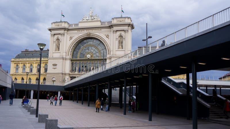 布达佩斯,匈牙利03 15 2019年 凯莱蒂火车站是布达佩斯的最繁忙的火车站 图库摄影