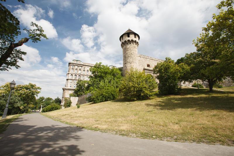 布达佩斯,布达城堡的中世纪本营 免版税库存图片