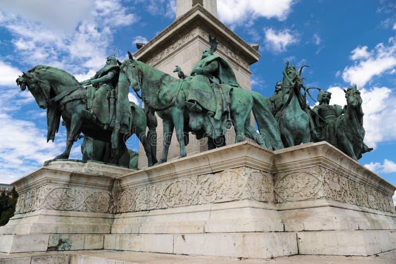 布达佩斯,英雄正方形 图库摄影