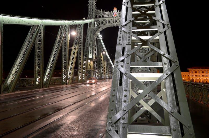 布达佩斯-自由桥梁 库存图片