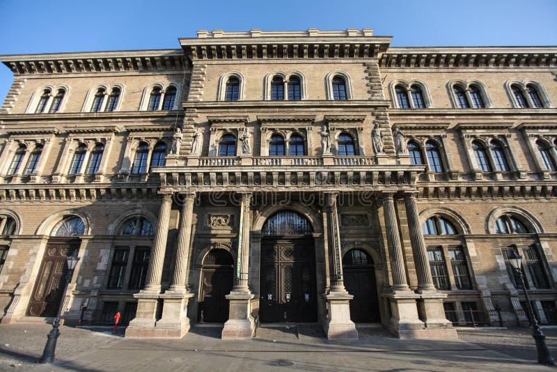 布达佩斯Corvinus大学 免版税库存图片