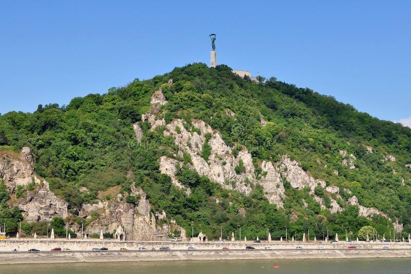 布达佩斯gellert小山 免版税库存图片