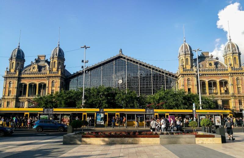 布达佩斯Nyugati铁路Terminalt 免版税库存照片