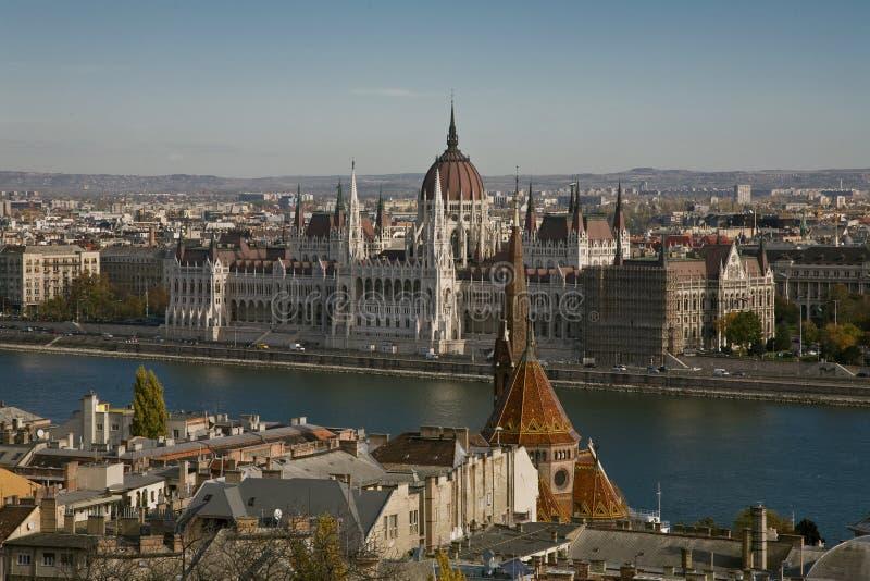 布达佩斯parlament 免版税库存图片