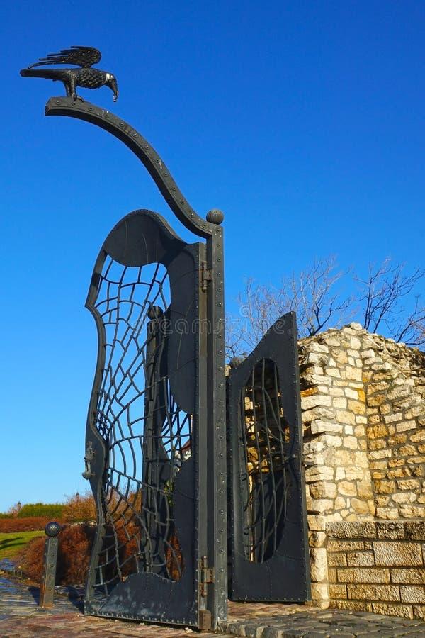 布达城堡在布达佩斯,门 库存图片