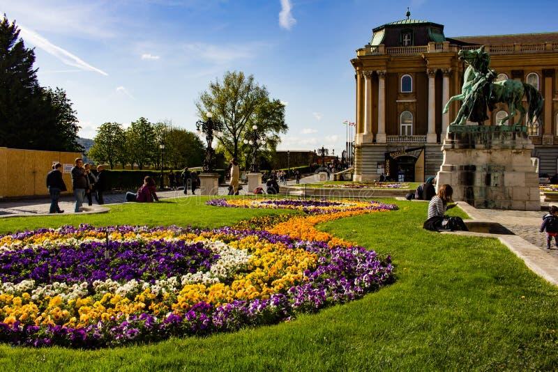 布达城堡庭院,布达佩斯 库存照片
