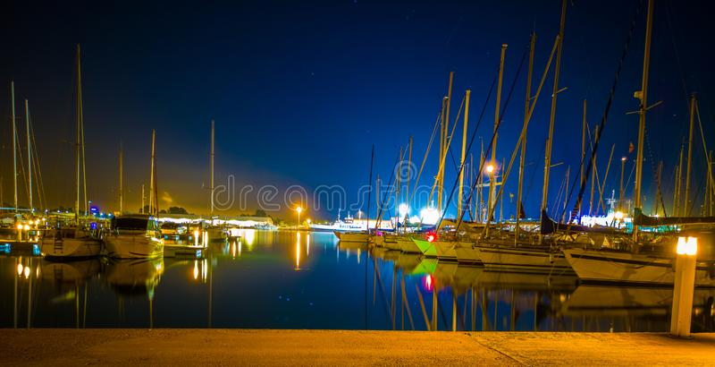 布里亚纳小游艇船坞  免版税库存图片