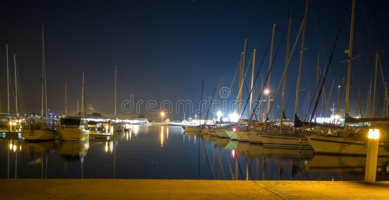 布里亚纳小游艇船坞  库存照片