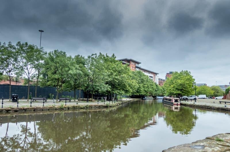 布里奇沃特运河,曼彻斯特,英国 库存图片