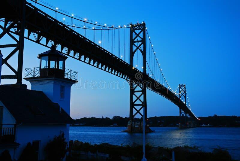 布里斯托尔登上希望桥梁在罗德岛 免版税库存照片