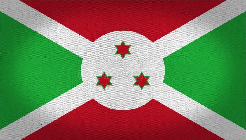 布隆迪旗子 向量例证