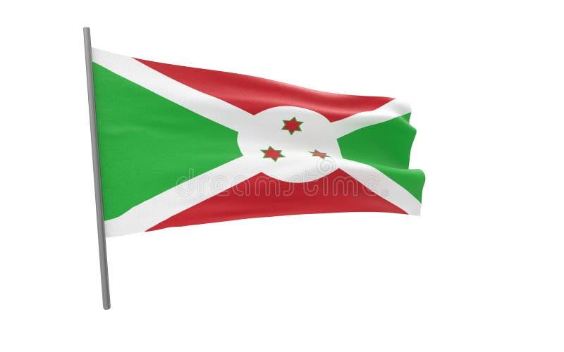 布隆迪的旗子 库存例证