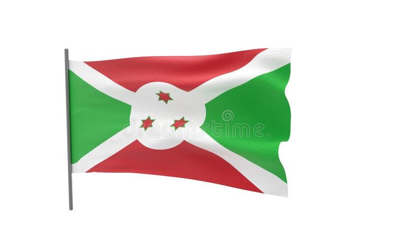 布隆迪的旗子 向量例证
