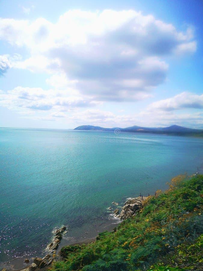 布雷、爱尔兰、爱尔兰海、自然 免版税库存照片