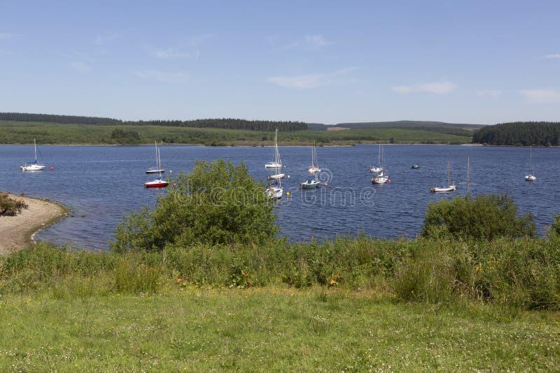 布雷尼格湖水库,北部威尔士,英国 库存照片