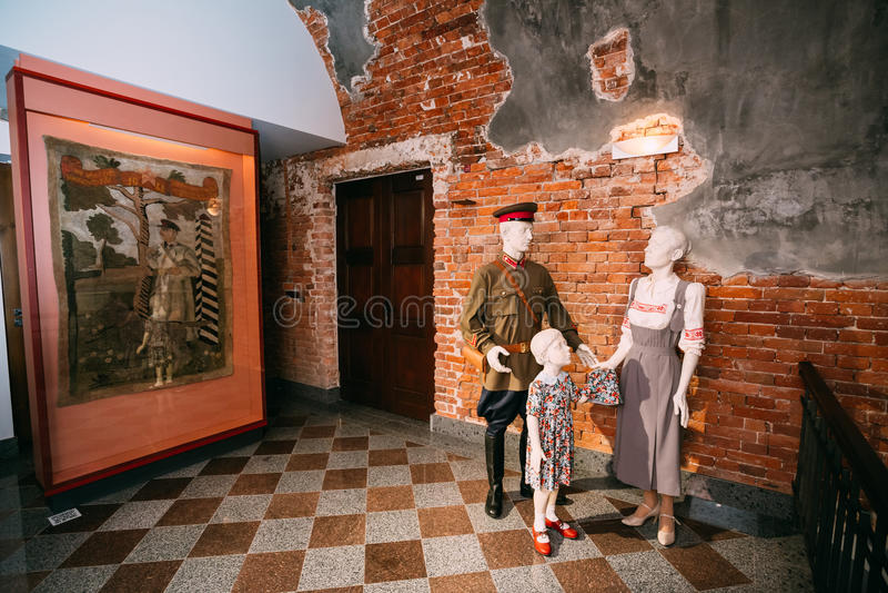 布雷斯特堡垒博物馆在布雷斯特,白俄罗斯 免版税库存照片