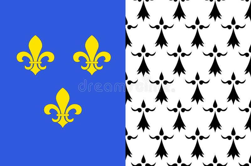 布雷斯特旗子在菲尼斯泰尔省在布里坦尼,法国 向量例证