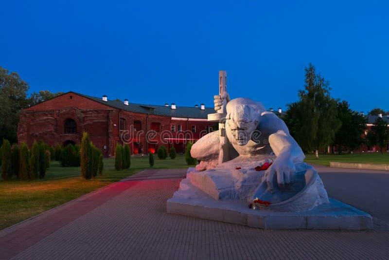 布雷斯特,白俄罗斯- 2017年6月21日:干渴雕塑在布雷斯特堡垒 布雷斯特,白俄罗斯 免版税库存照片