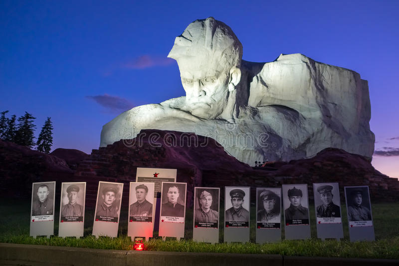 布雷斯特,白俄罗斯- 2017年6月21日:纪念碑在纪念复杂布雷斯特英雄堡垒 布雷斯特,白俄罗斯 库存照片
