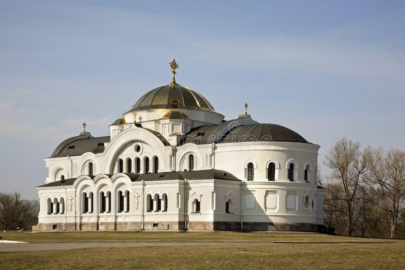 布雷斯特Litovsk fortres的圣尼古拉斯教会在布雷斯特布雷斯特 库存图片