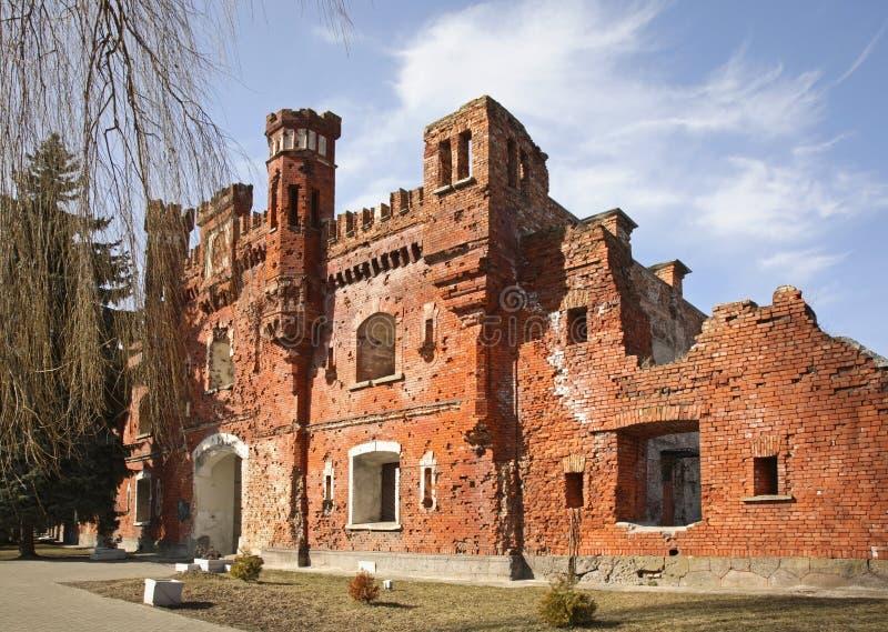 布雷斯特Litovsk fortres Kholm门在布雷斯特布雷斯特 免版税库存图片